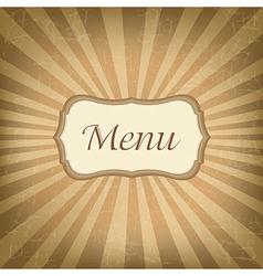 Retro Label With Menu vector image vector image