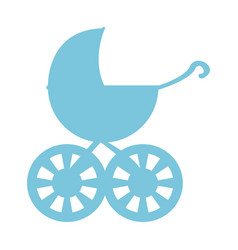 bbaby stroller icon vector image