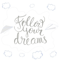 Card with hand drawn lettering vector image vector image