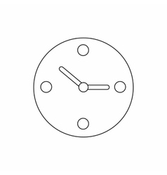 Clock icon thin line style vector image vector image