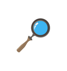 glass magnifying icon search magnifier zoom vector image vector image