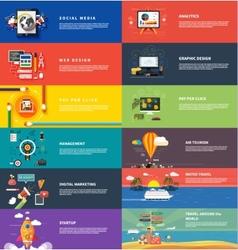 Management digital marketing srartup planning seo vector image vector image