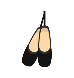 pointe shoes icon flat style vector image vector image