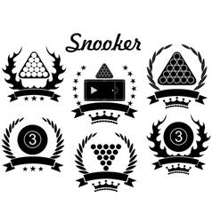 Snooker vector image