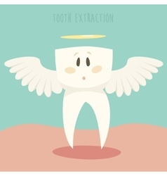 Tooth Extraction Healthy White Teeth vector image