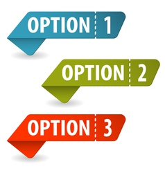 Collect Option Signs vector image vector image