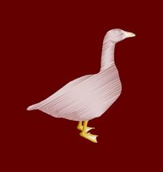 flat shading style icon goose vector image