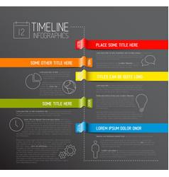 infographic dark timeline report template vector image vector image
