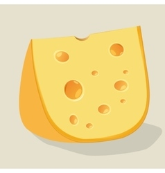 piece of cheese with holes vector image