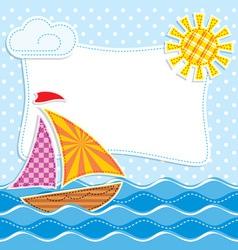 sea textiles vector image vector image