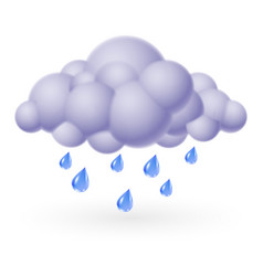 single weather icon - bubble cloud with rain vector image vector image