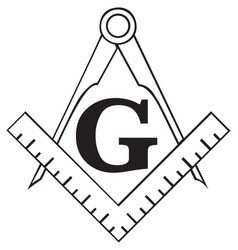 the masonic square and compass symbol freemason vector image