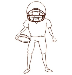 A football player vector image