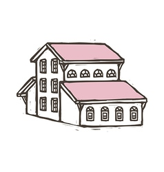 A house is placed vector