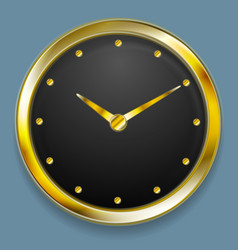 Abstract golden clock design vector