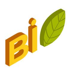 bio logo design on white background leaf vector image