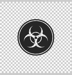Biohazard symbol icon on transparent background vector
