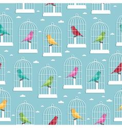 birdcage pattern vector image