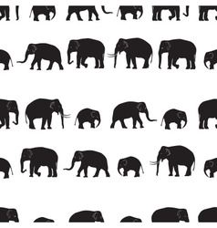 Black elephants walking seamless pattern eps10 vector