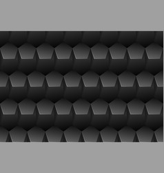 black embossed pattern plastic pentagon vector image