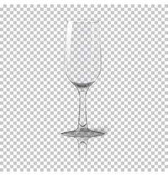 Blank tall transparent photo realistic isolated vector image