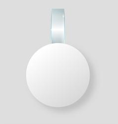 Blank white wobbler hang on wall mock up 3d vector