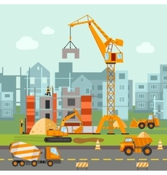Building Work vector image