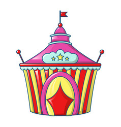 circus tent icon cartoon style vector image