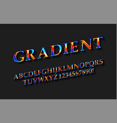 Color english alphabet vector