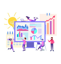concept marketing and teamwork vector image