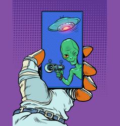 Contact with an alien mind evil dangerous alien vector