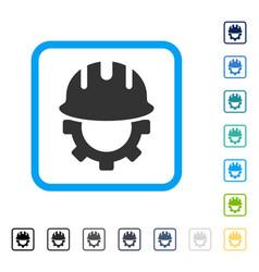 Development hardhat framed icon vector