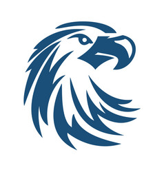 eagle or hawk bird logo abstract design vector image