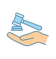 Family law color icon vector