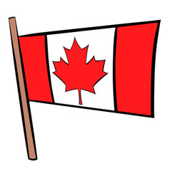 flag of canada icon cartoon vector image
