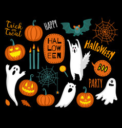 Flat style halloween collection vector