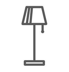 floor lamp line icon furniture and home light vector image