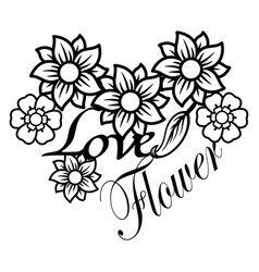 flower silhouette for t-shirt design vector image