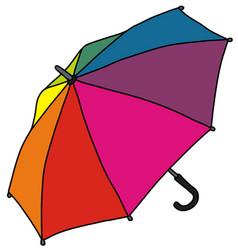 Funny rainbow color umbrella vector