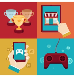 game marketing vector image