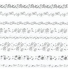 Hand drawn doodle borders frames vector