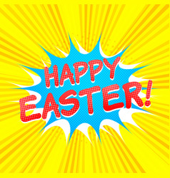 happy easter comic concept vector image