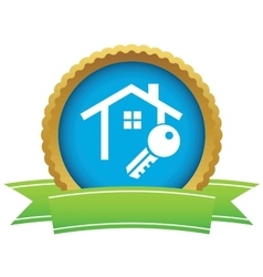 House key certificate icon vector