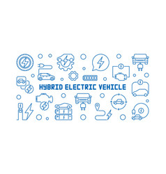 Hybrid electric vehicle horizontal line vector