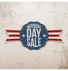 Independence Day Sale vintage Emblem vector image
