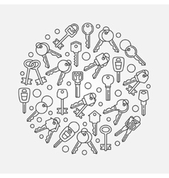 Keys circular vector