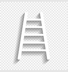 Ladder sign white icon vector