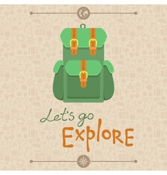 Lets go explore vector image