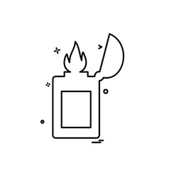 lighter icon design vector image