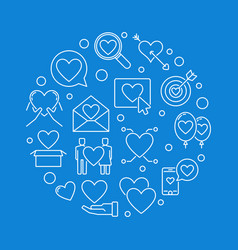 love addiction round in thin vector image